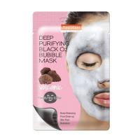 Пузырьковая маска для лица Purederm Deep Purifying Black O2 Bubble Mask Volcanic